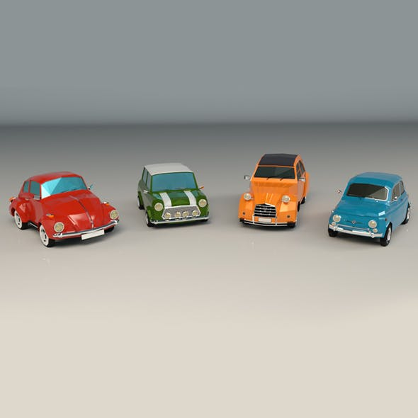 Low Poly City Car Pack - 3DOcean Item for Sale
