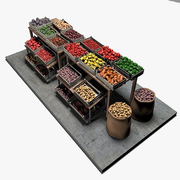 Vegetable Stand Market - 3DOcean Item for Sale