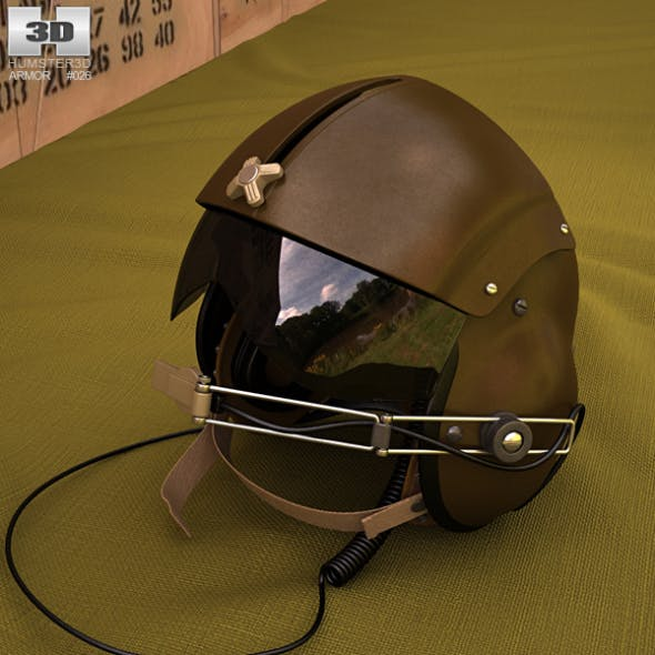 Vietnam SPH-4 Helicopter helmet - 3DOcean Item for Sale