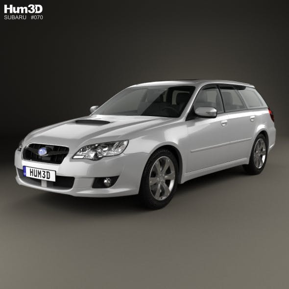 Subaru Legacy station wagon 2008 - 3DOcean Item for Sale