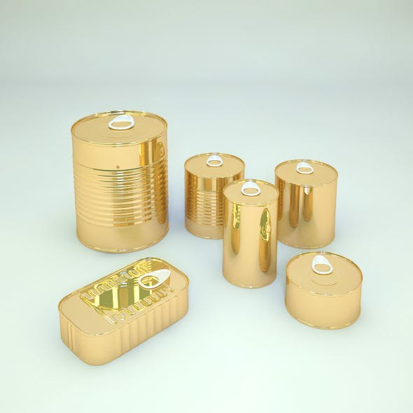 Set of Cans - 3DOcean Item for Sale