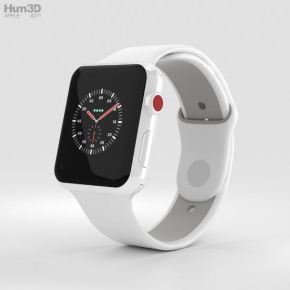 Apple Watch Edition Series 3 42mm GPS White Ceramic Case Soft White/Pebble Sport Band
