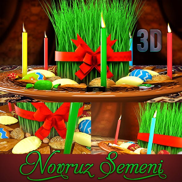3D Novruz Semeni Pack - 3DOcean Item for Sale
