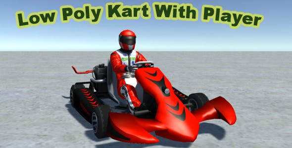 Low Poly Kart With Player 13 - 3DOcean Item for Sale