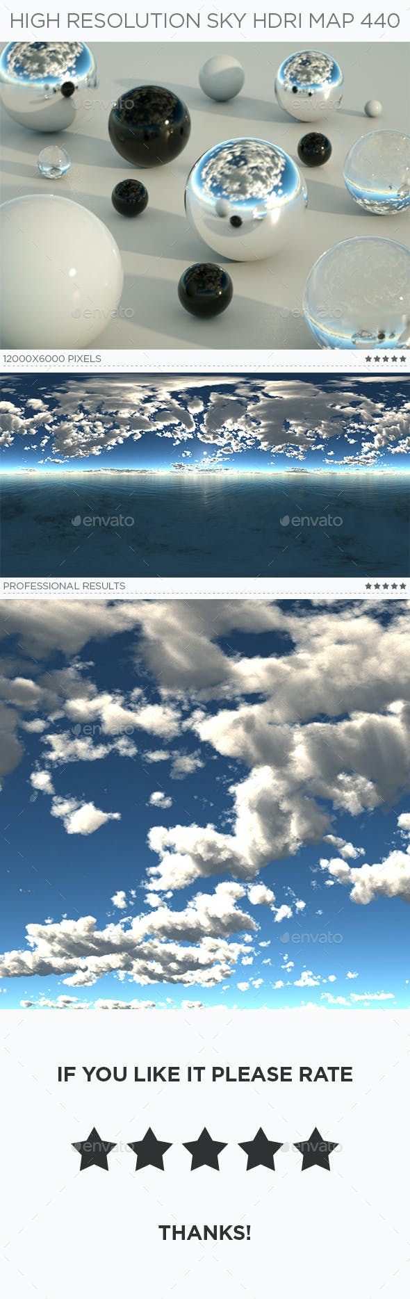 High Resolution Sky HDRi Map 440 - 3DOcean Item for Sale