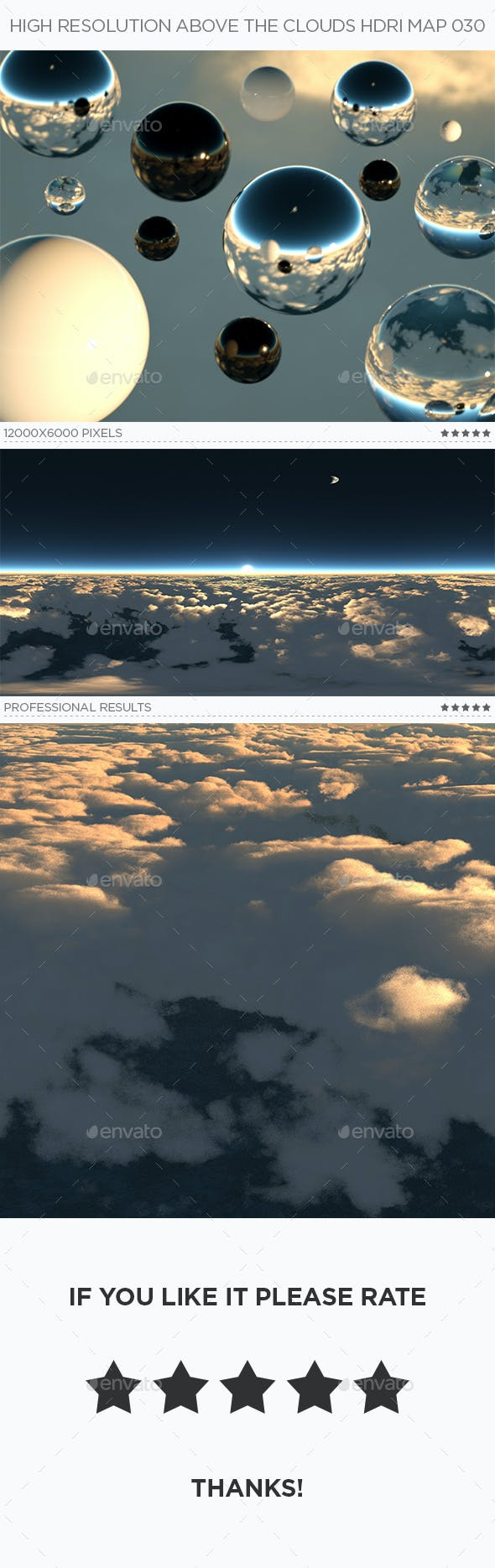 High Resolution Above The Clouds HDRi Map 030 - 3DOcean Item for Sale