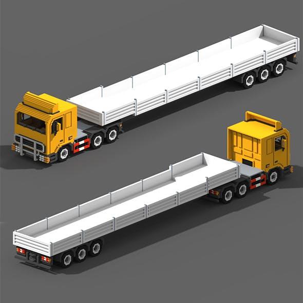 Voxel Truck & Flatbed Trailer