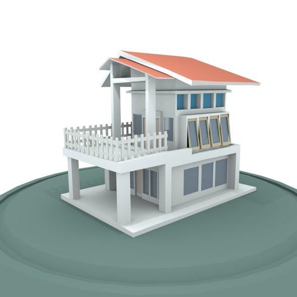 House Minimalist Design - 3DOcean Item for Sale