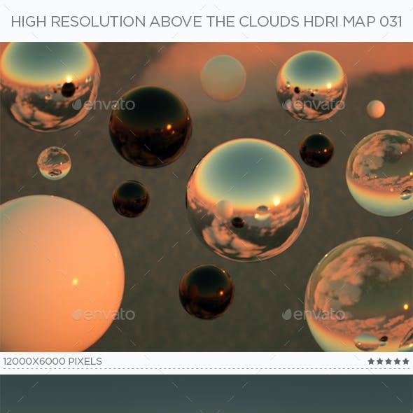High Resolution Above The Clouds HDRi Map 031