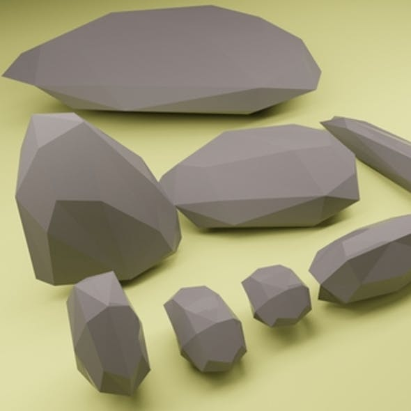Low poly rocks