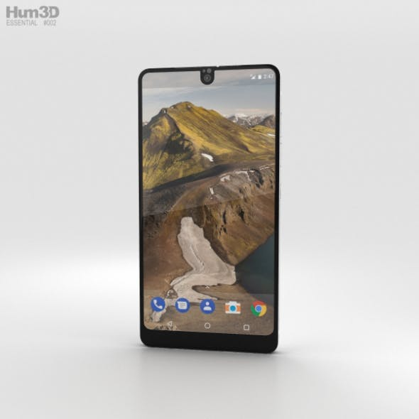 Essential Phone Pure White - 3DOcean Item for Sale