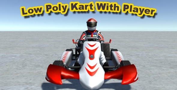 Low Poly Kart With Player 11 - 3DOcean Item for Sale