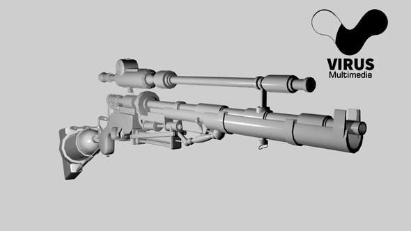senapan sniper 3Dmodel - 3DOcean Item for Sale