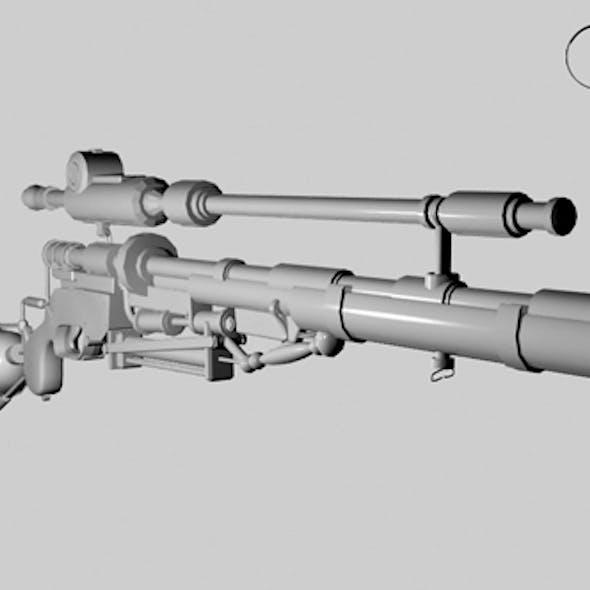 senapan sniper 3Dmodel