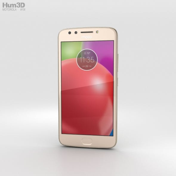 Motorola Moto E4 Fine Gold - 3DOcean Item for Sale