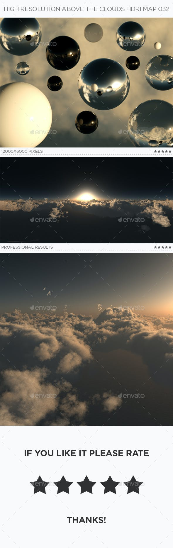 High Resolution Above The Clouds HDRi Map 032 - 3DOcean Item for Sale