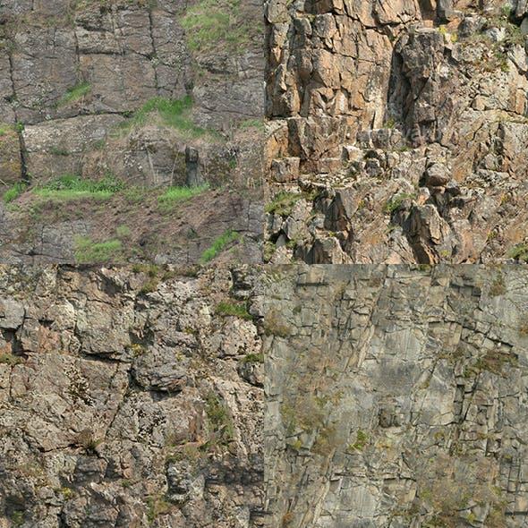 Set of 26 Seamless Cliffs Textures Volume 3