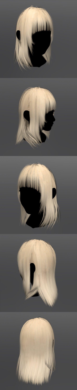Hair Woman - 3DOcean Item for Sale