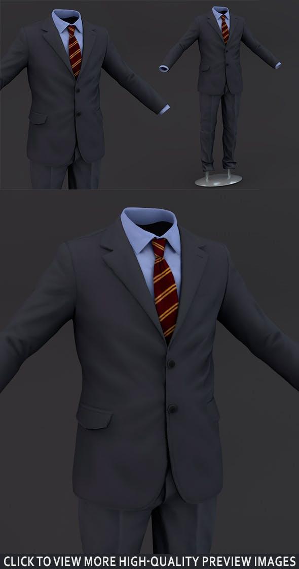 Suit men 3D Model Clothing - 3DOcean Item for Sale