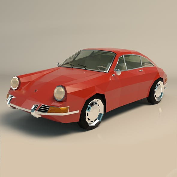 Low Poly Sports Car - 3DOcean Item for Sale