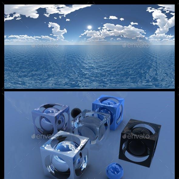 Ocean Blue Clouds 16 - HDRI