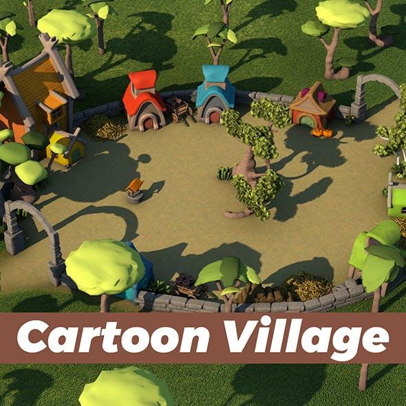 Cartoon Village - 3DOcean Item for Sale
