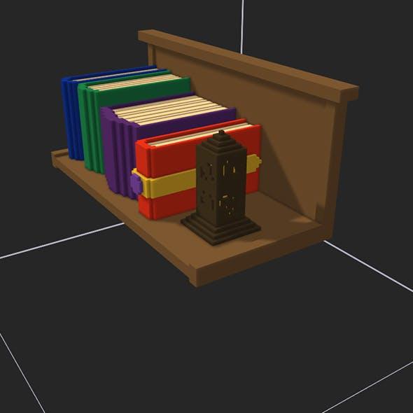 pixel bookshelf