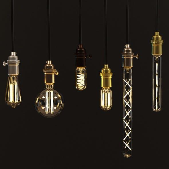 Decorative Edison LED bulb set E24 with Sockets