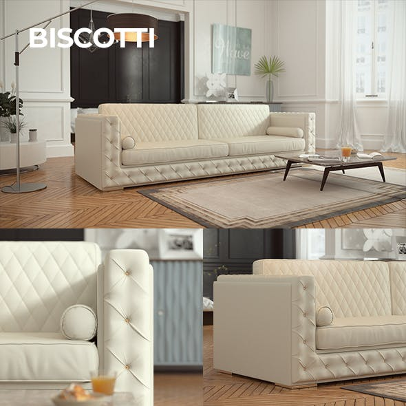 Biscotti Sofa - 3DOcean Item for Sale