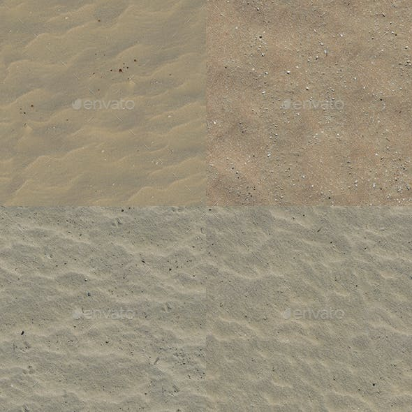 Set of 20 Various Sand Textures Volume 2