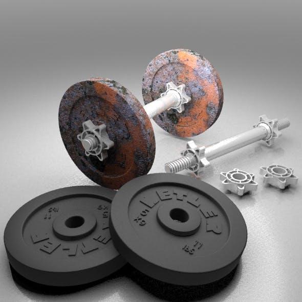 Dumbbells - 3DOcean Item for Sale