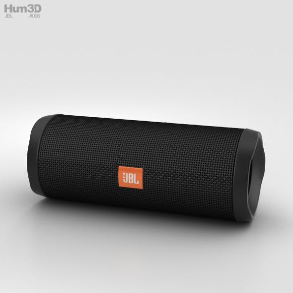 JBL Flip 4 Black - 3DOcean Item for Sale