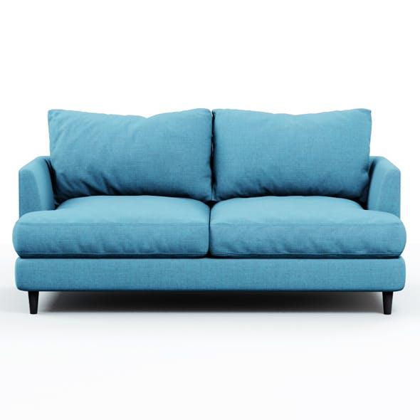 Soft sofa fabric blue