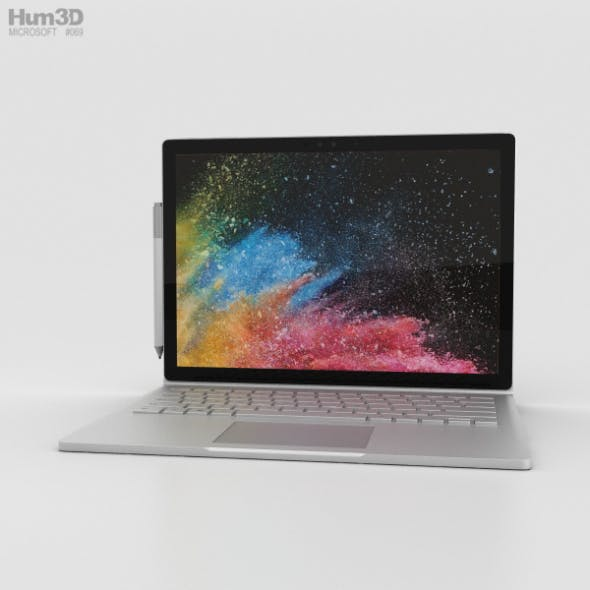 Microsoft Surface Book 2 13.5-inch - 3DOcean Item for Sale