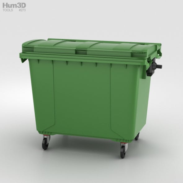 Large Garbage Container - 3DOcean Item for Sale