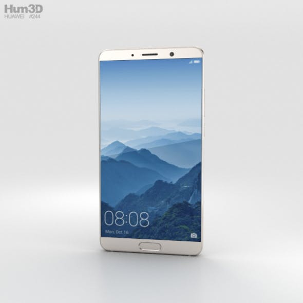 Huawei Mate 10 Champagne Gold - 3DOcean Item for Sale