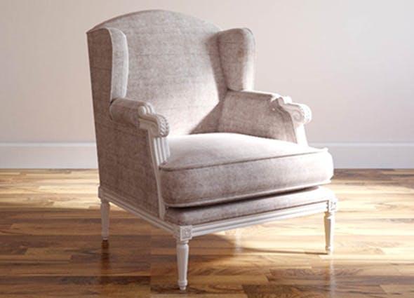 Bergere Jersey Armchair - 3DOcean Item for Sale