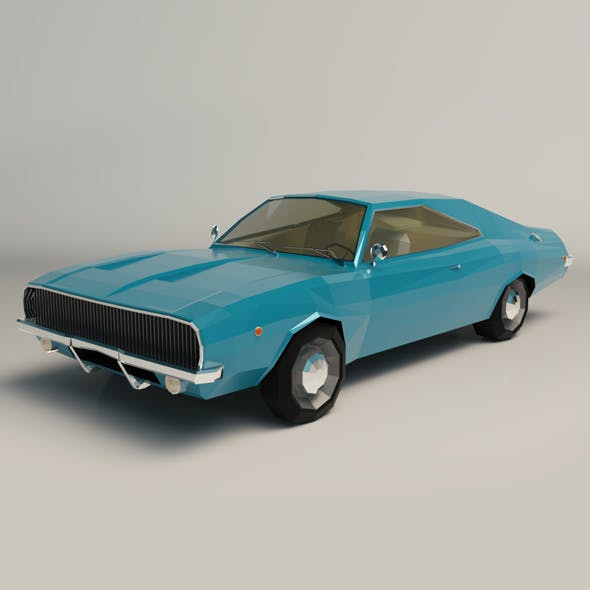 Low Poly Muscle Car 04 - 3DOcean Item for Sale