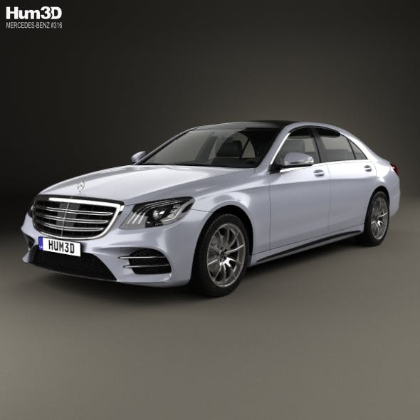 Mercedes-Benz S-class (V222) LWB AMG Line 2017 - 3DOcean Item for Sale