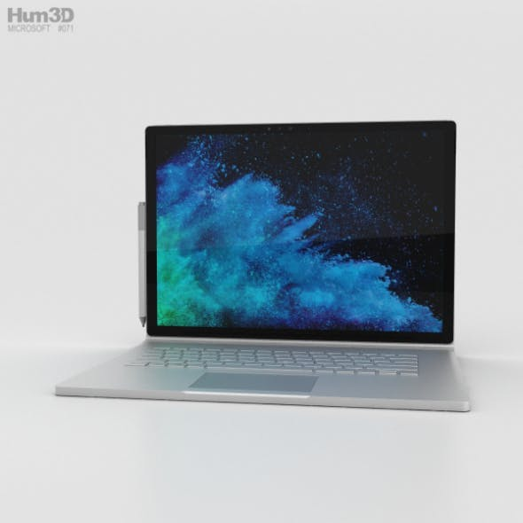 Microsoft Surface Book 2 15-inch - 3DOcean Item for Sale
