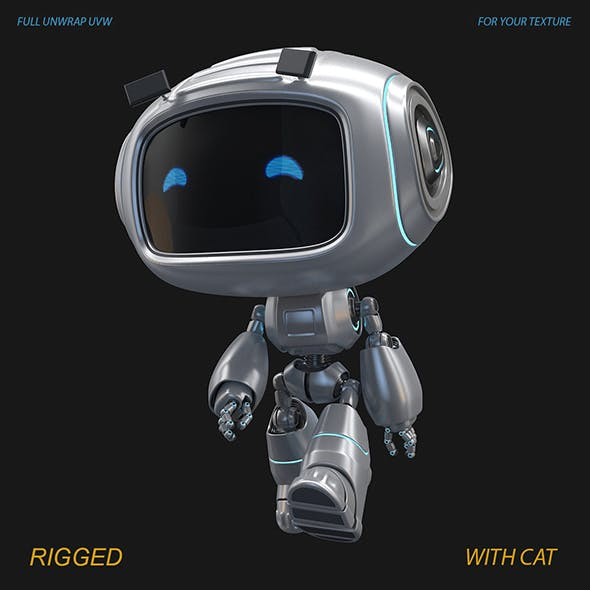 Toy Droid Rigged - 3DOcean Item for Sale
