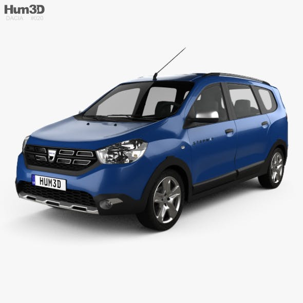 Dacia Lodgy Stepway 2016 - 3DOcean Item for Sale