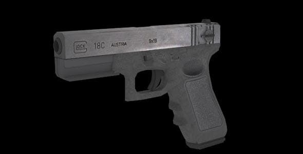 Low Poly Glock - 3DOcean Item for Sale