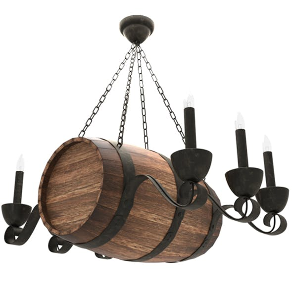 Barrel Lamp 3D model - 3DOcean Item for Sale