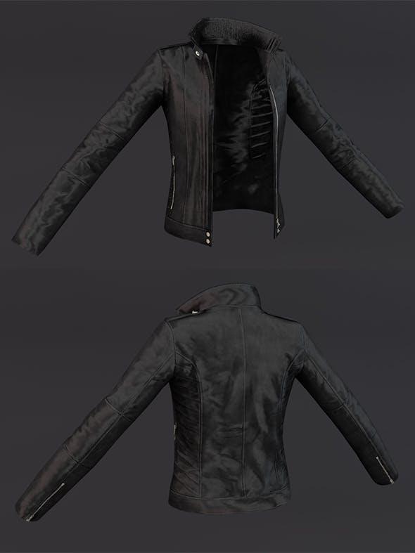 Jacket Black 3D Model Clothing - 3DOcean Item for Sale