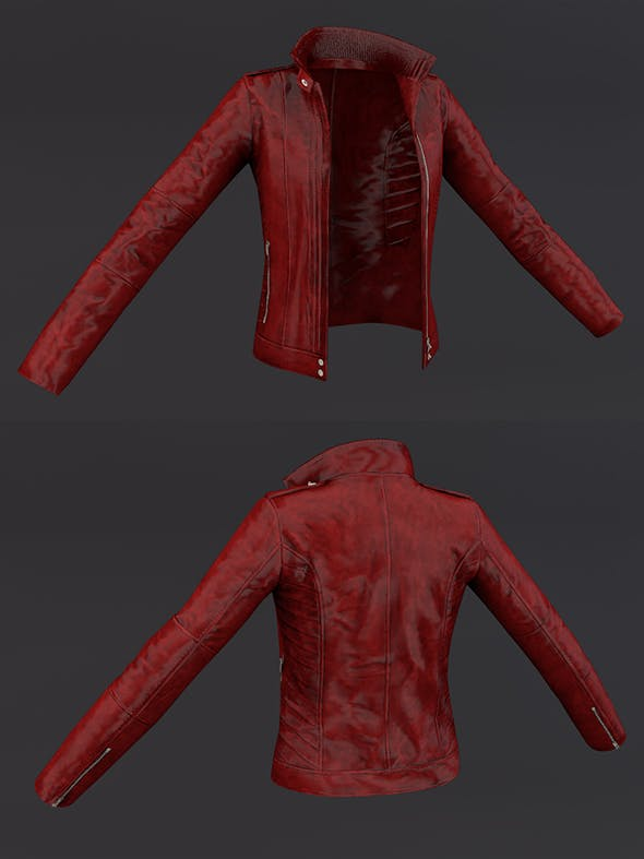 Jacket Red 3D Model Clothing - 3DOcean Item for Sale