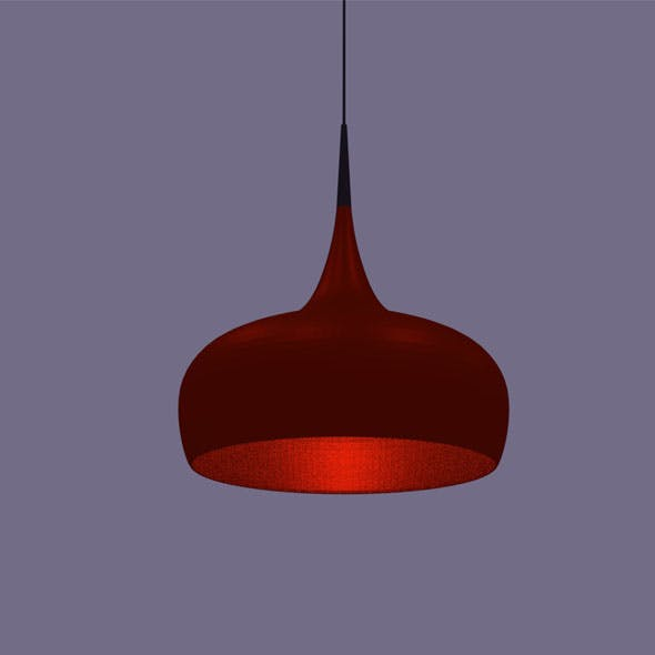 the chandelier is red - 3DOcean Item for Sale