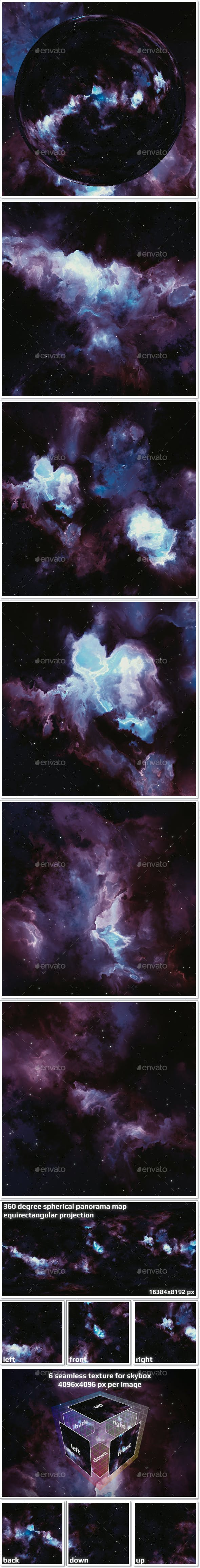 Nebula Space Environment HDRI Map 024 - 3DOcean Item for Sale