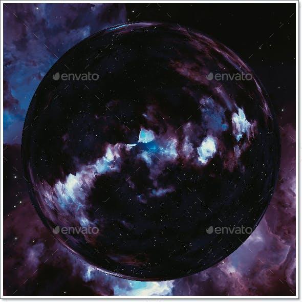 Nebula Space Environment HDRI Map 024