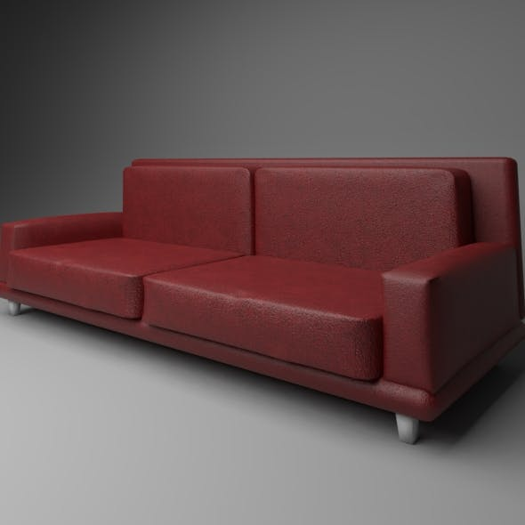 Red Sofa by YusufBerkee | 3DOcean